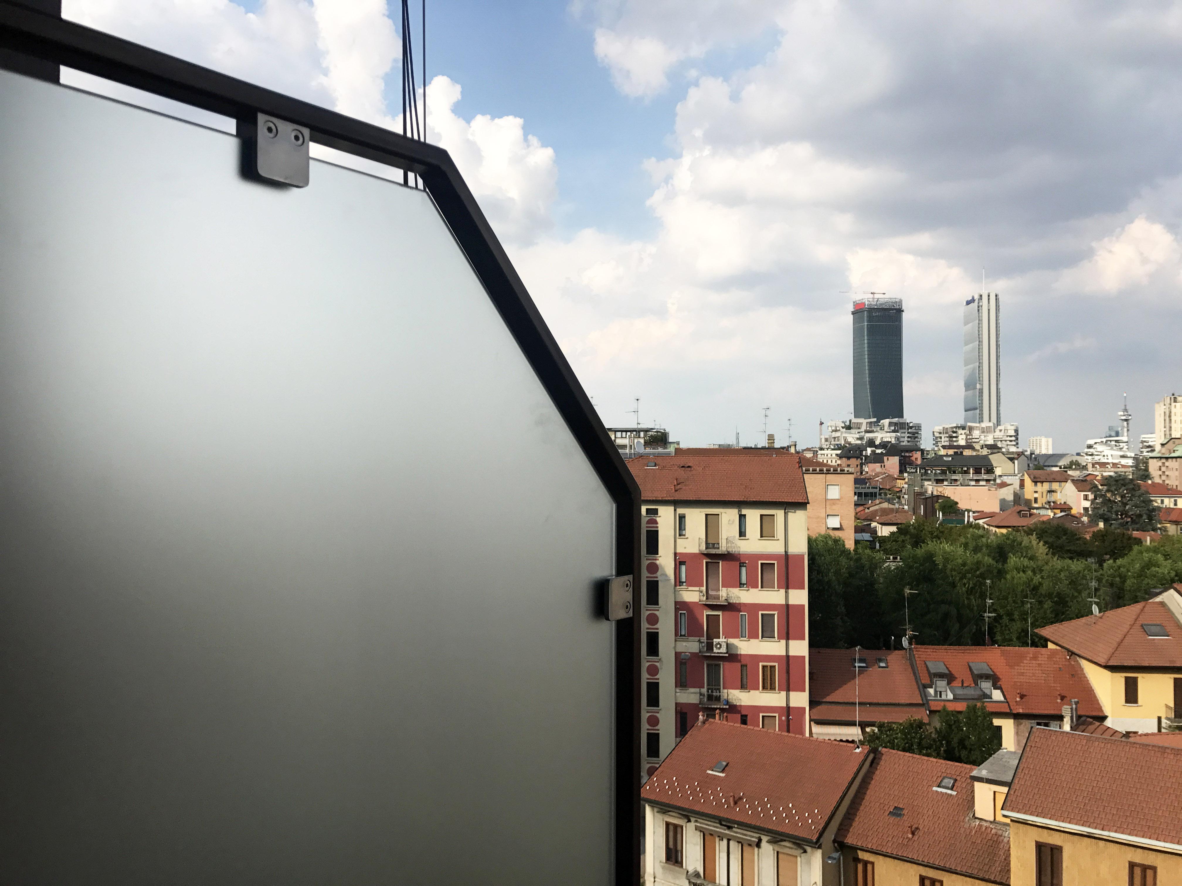 Divisorio balcone vetro
